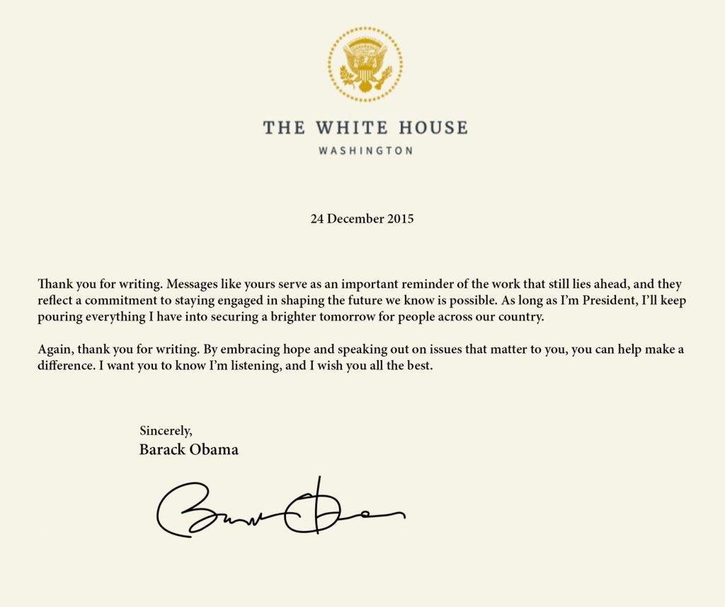 Sankarshan Das Adhikari Letter from White house